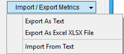 Immagine della sezione Import/Export URL's