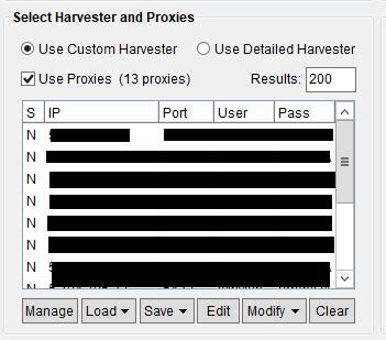 Immagine della sezione Select Harvester and Proxies