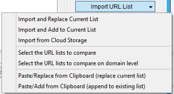Immagine della sezione Import URL List