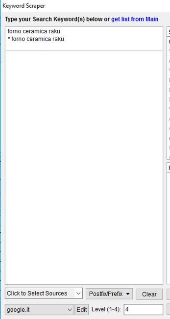 Immagine della funzione Prefix with *