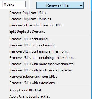 Immagine della sezione Remove / Filter