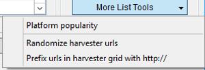 Immagine della sezione More List Tools
